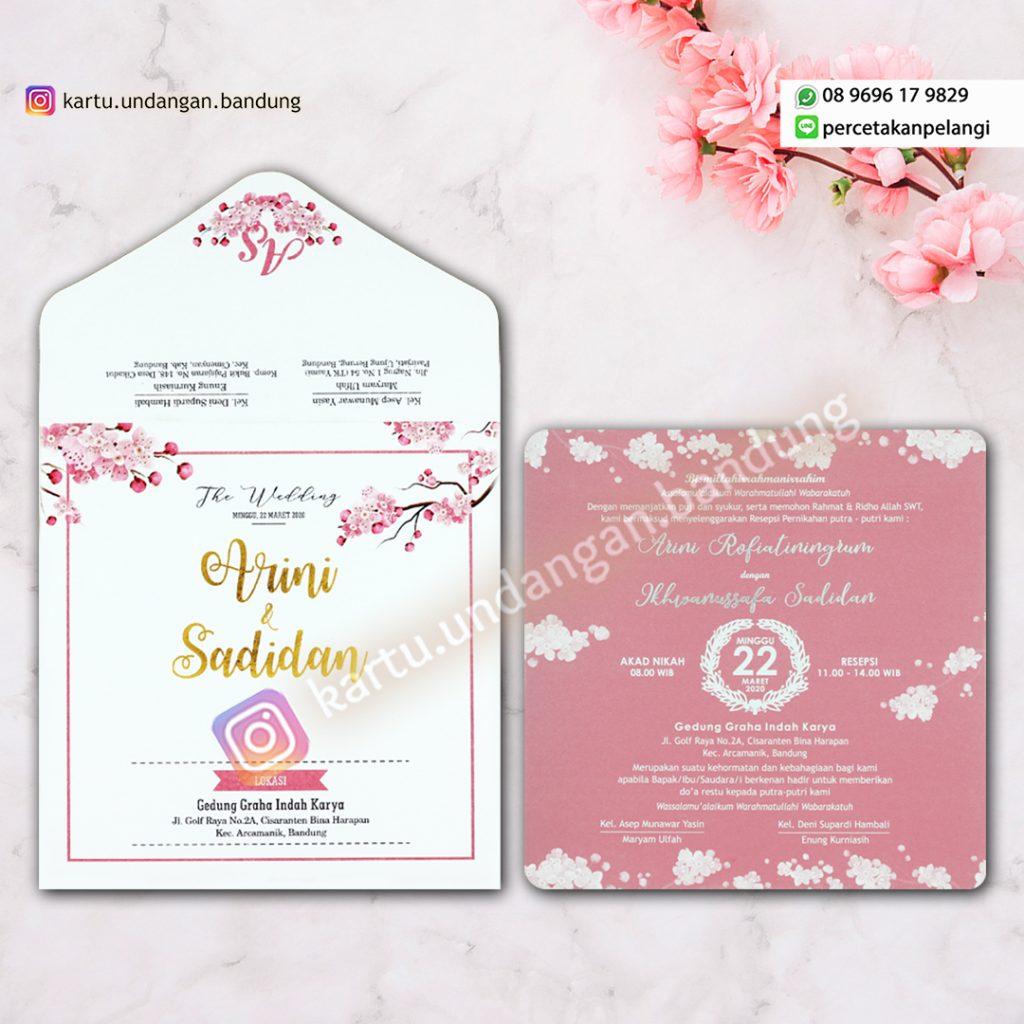 Undangan Nikah Cantik Design Bunga Sakura