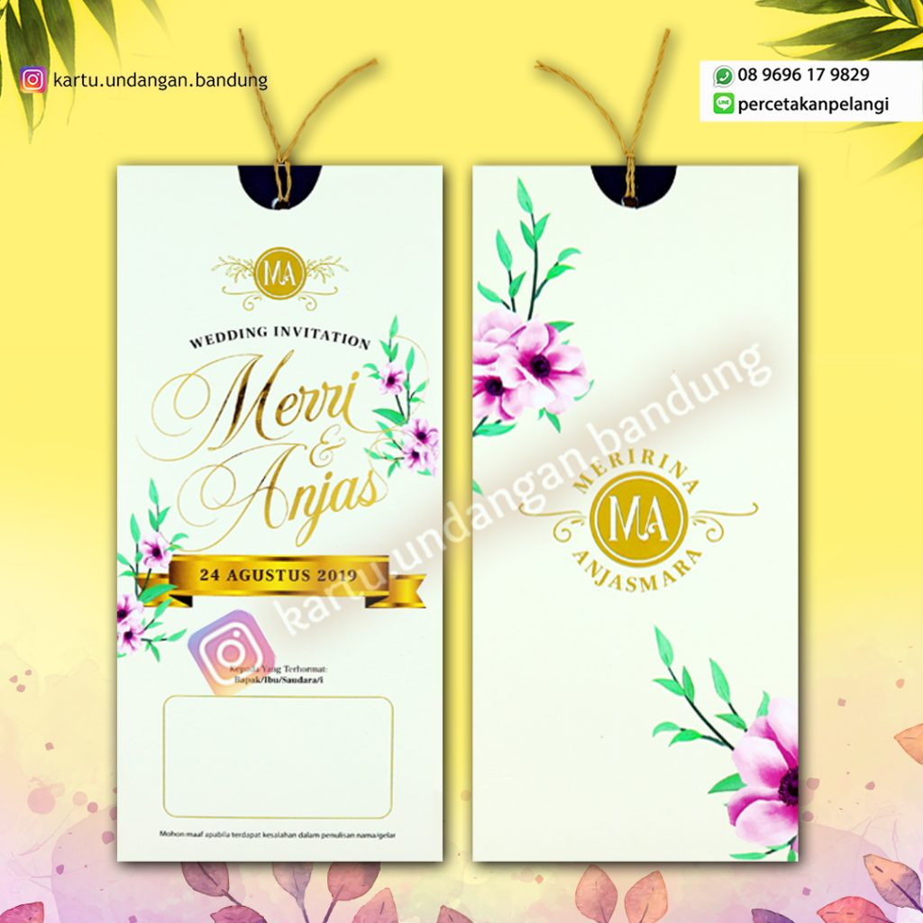 Kartu Undangan Design Bunga Fresh