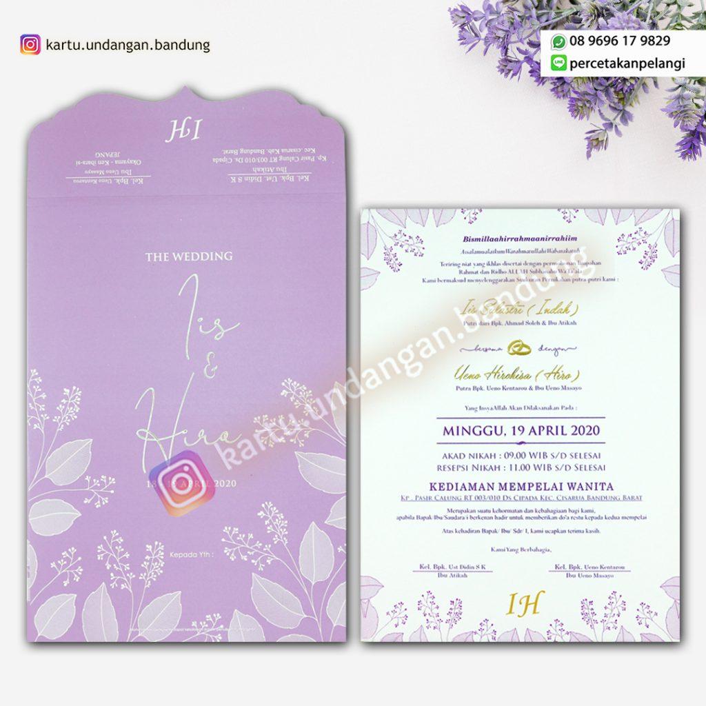 undangan Pernikahan Warna Lilac hits