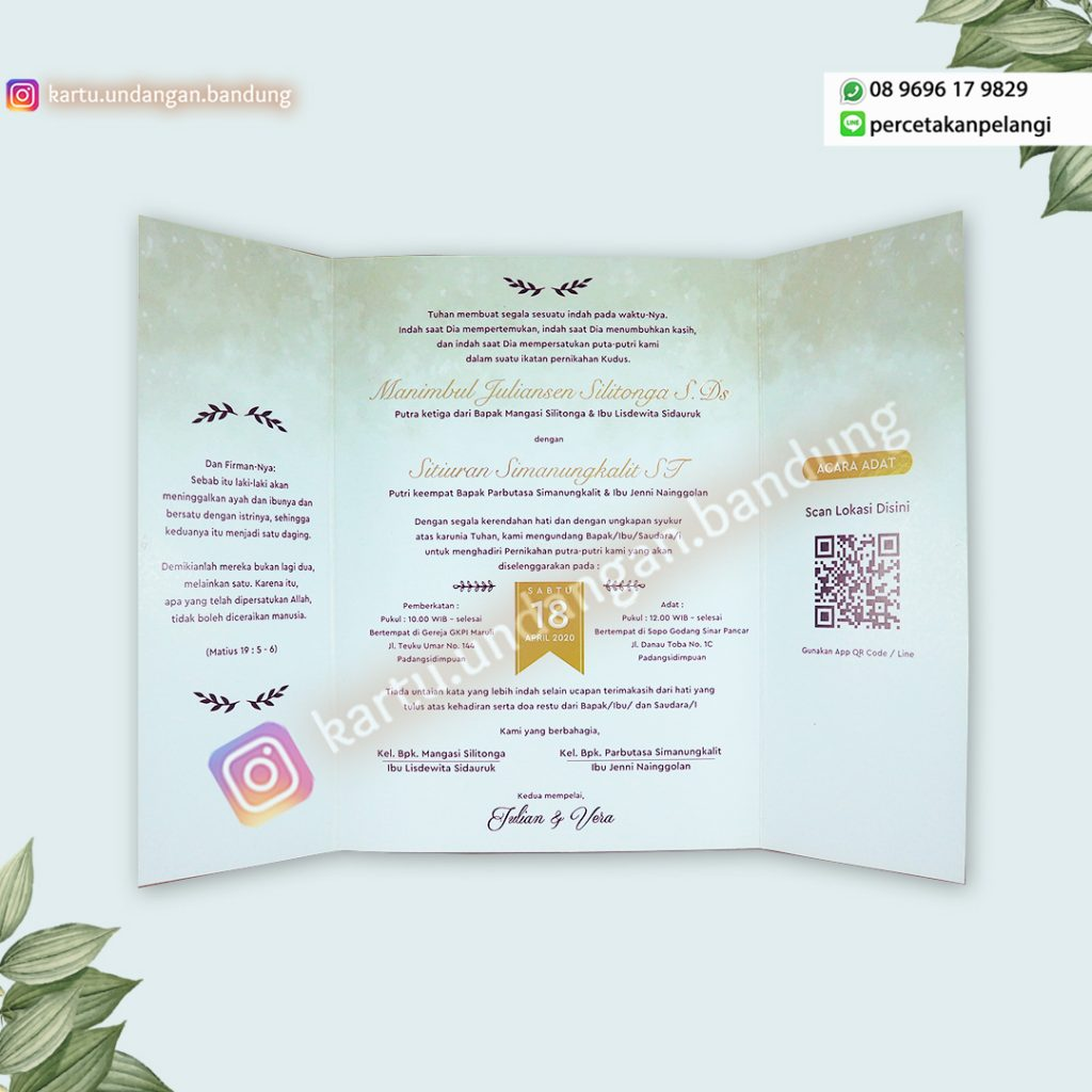 Kartu Undangan softcover simple