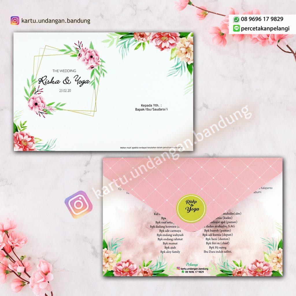 Kartu undangan Floral cantik