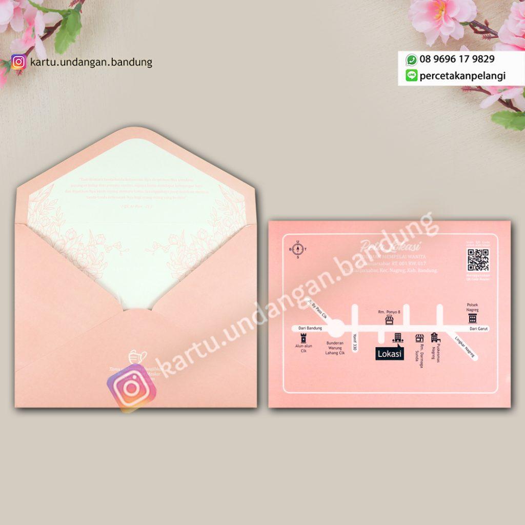 Kartu Undangan Nikah Warna Pink Cantik