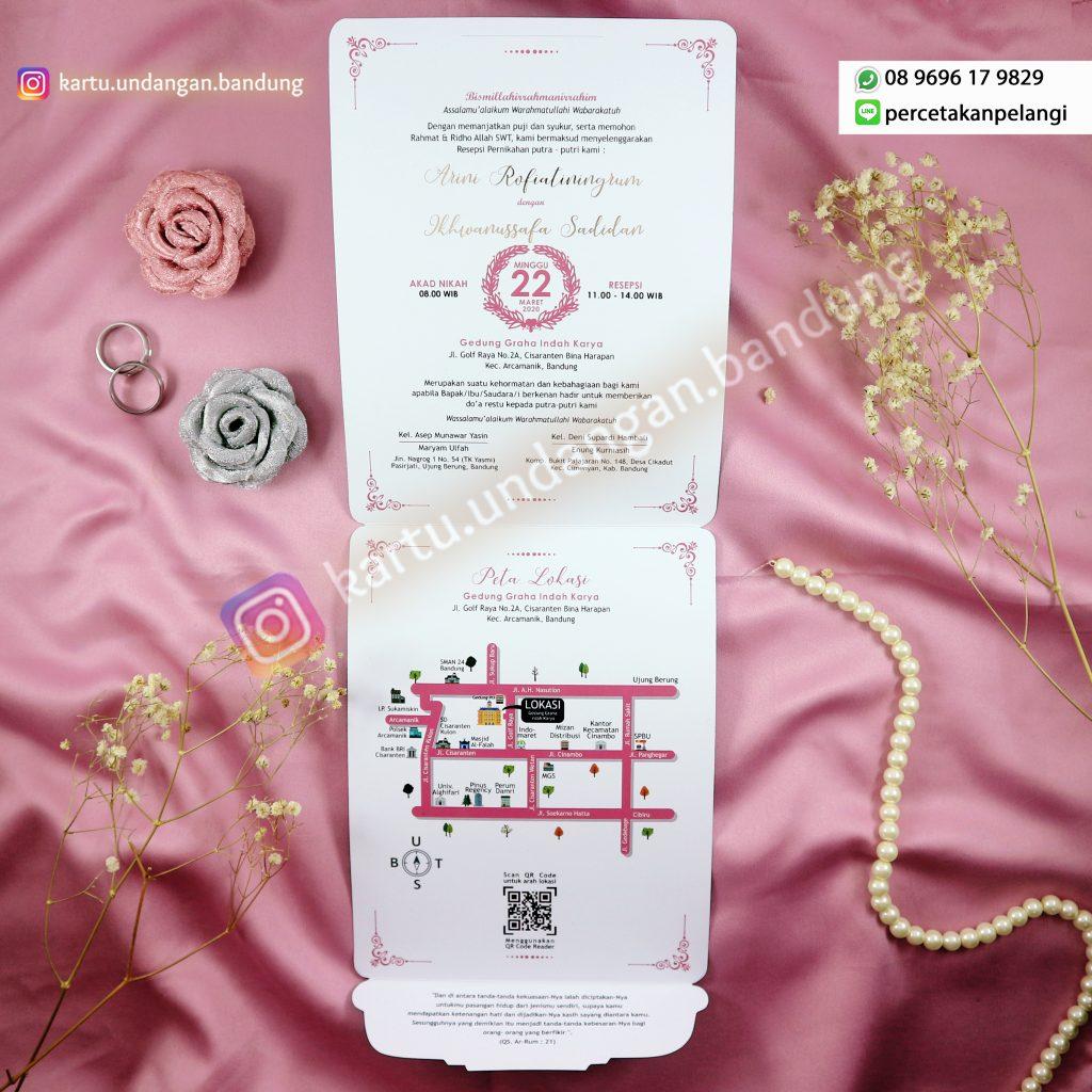 Kartu Undangan Tema Jepang Bunga Sakura