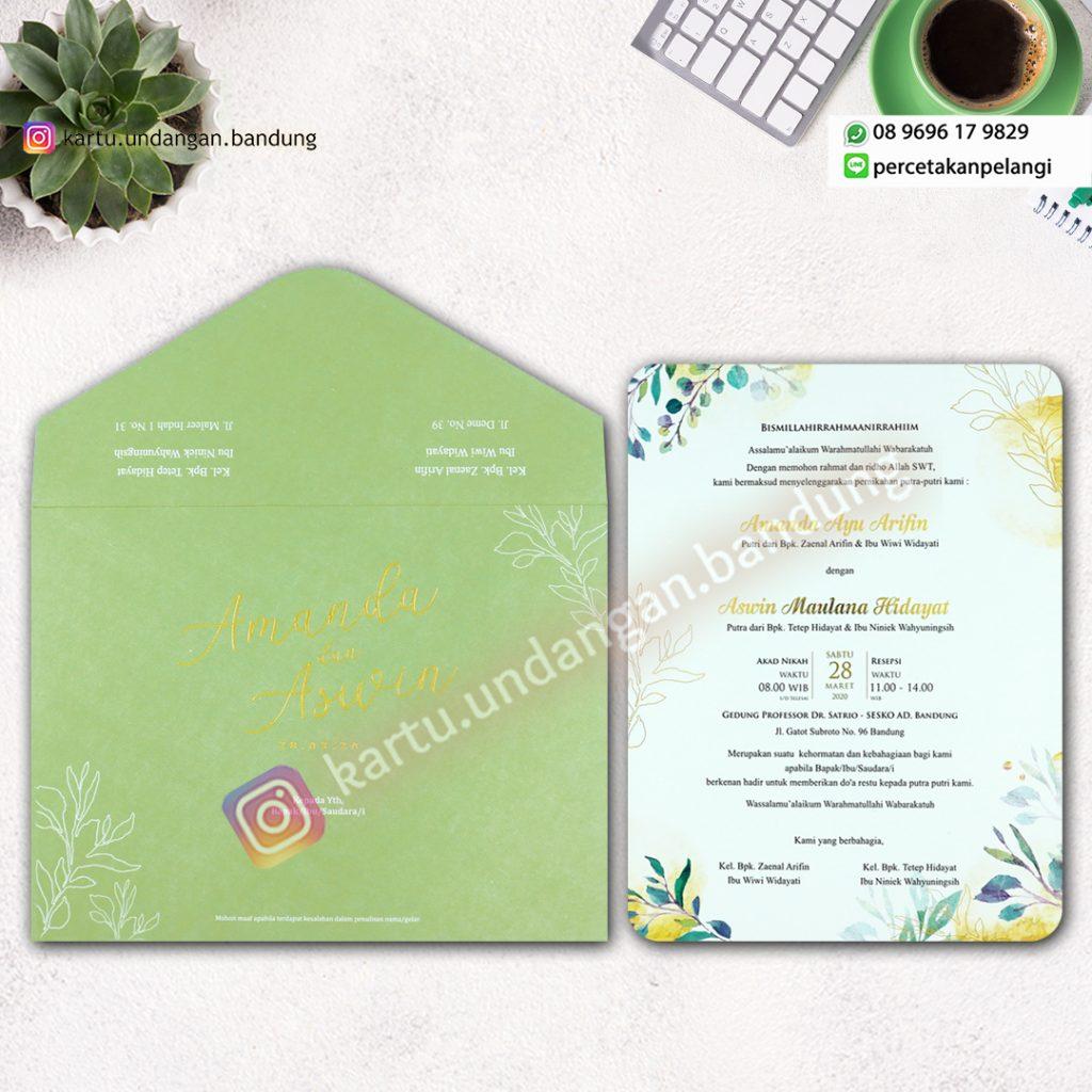 Kartu Undangan warna hijau pastel