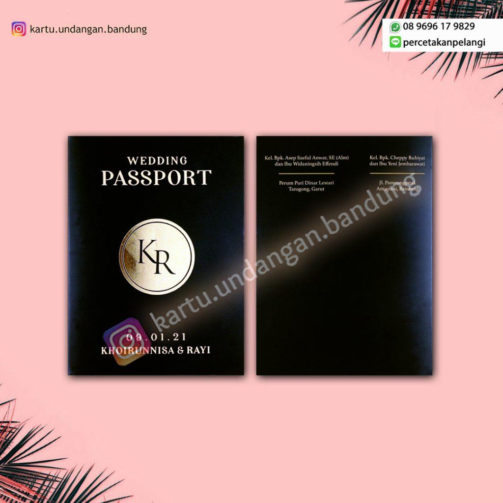 Undangan Nikah Passport & Boarding Pass Cantik