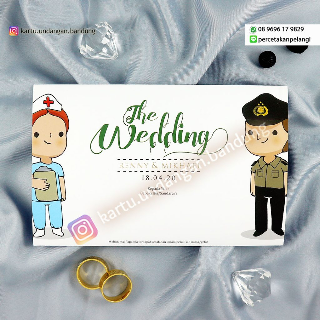 Kartu Undangan pernikahan menarik cantik