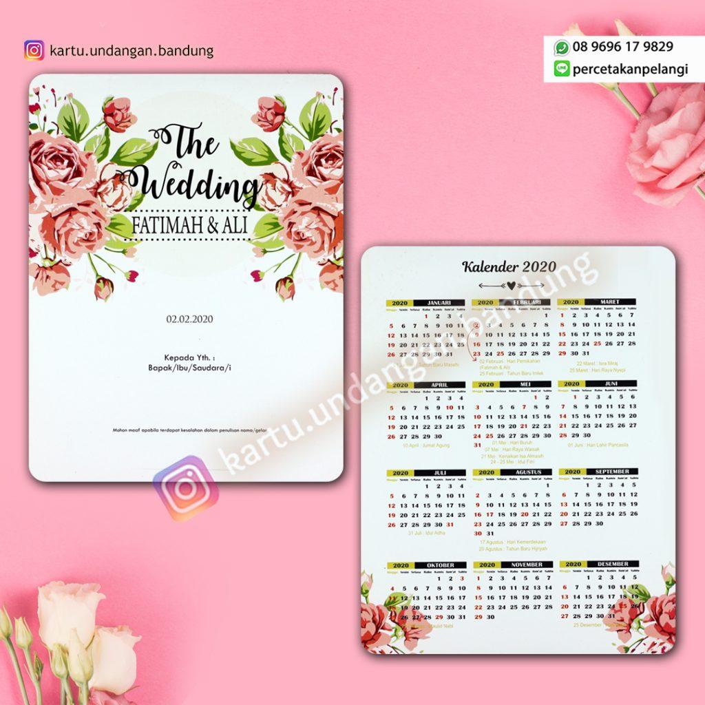 Undangan Model kalender cantik