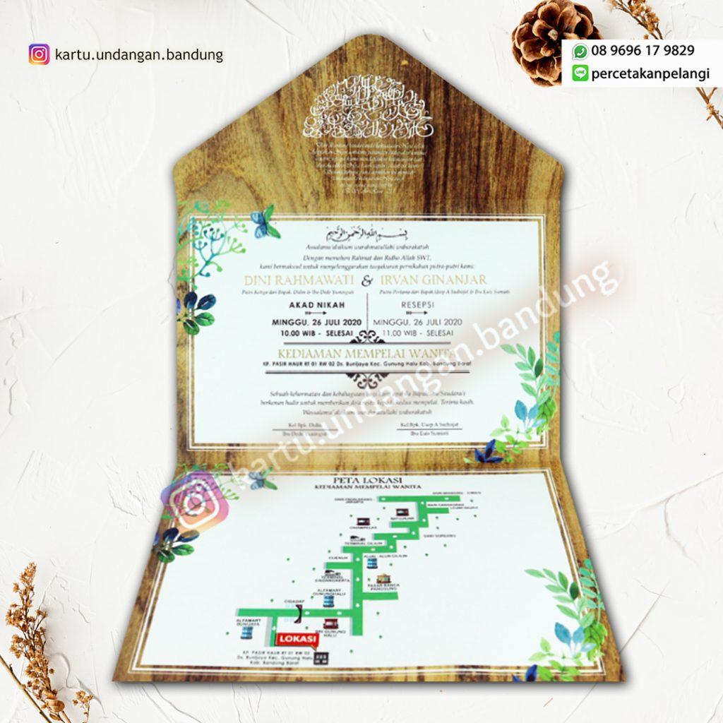 Undangan motif kayu alami