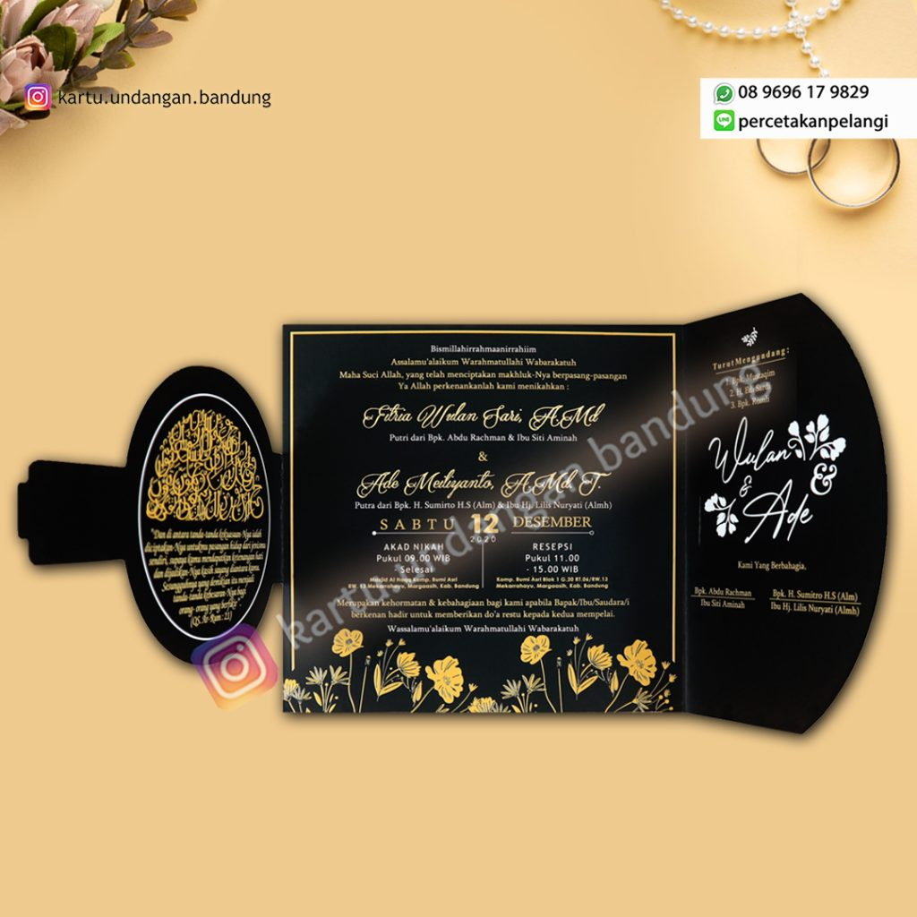 Undangan Pernikahan Motif Ethnic