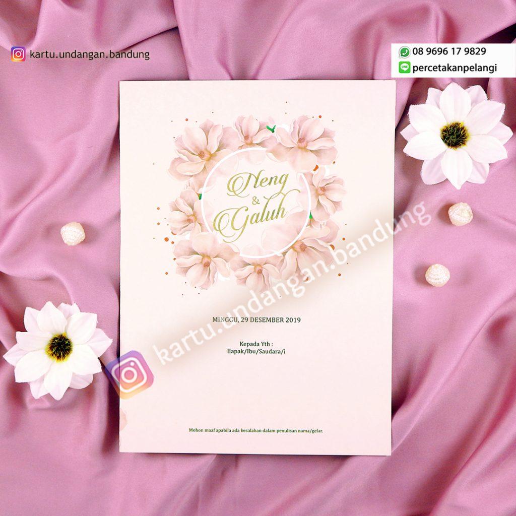 Kartu Undangan Design Bunga Pink