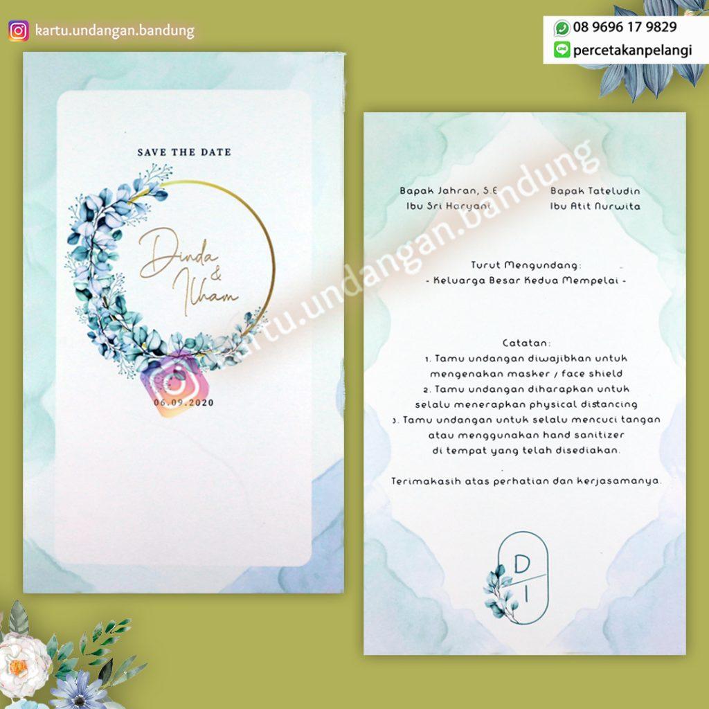 Kartu undangan Cantik Warna Pastel