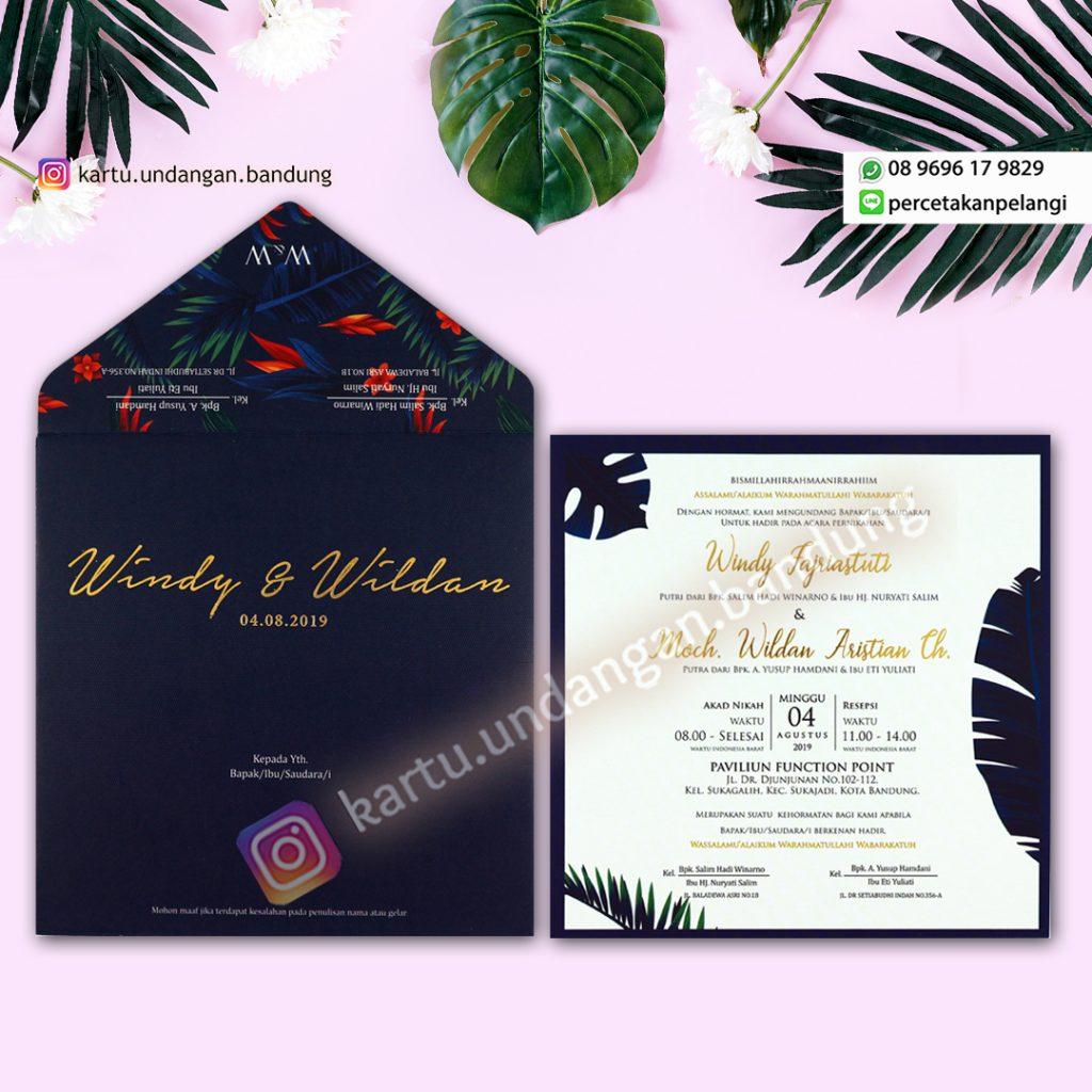 Undangan Pernikahan Tropical Kekinian