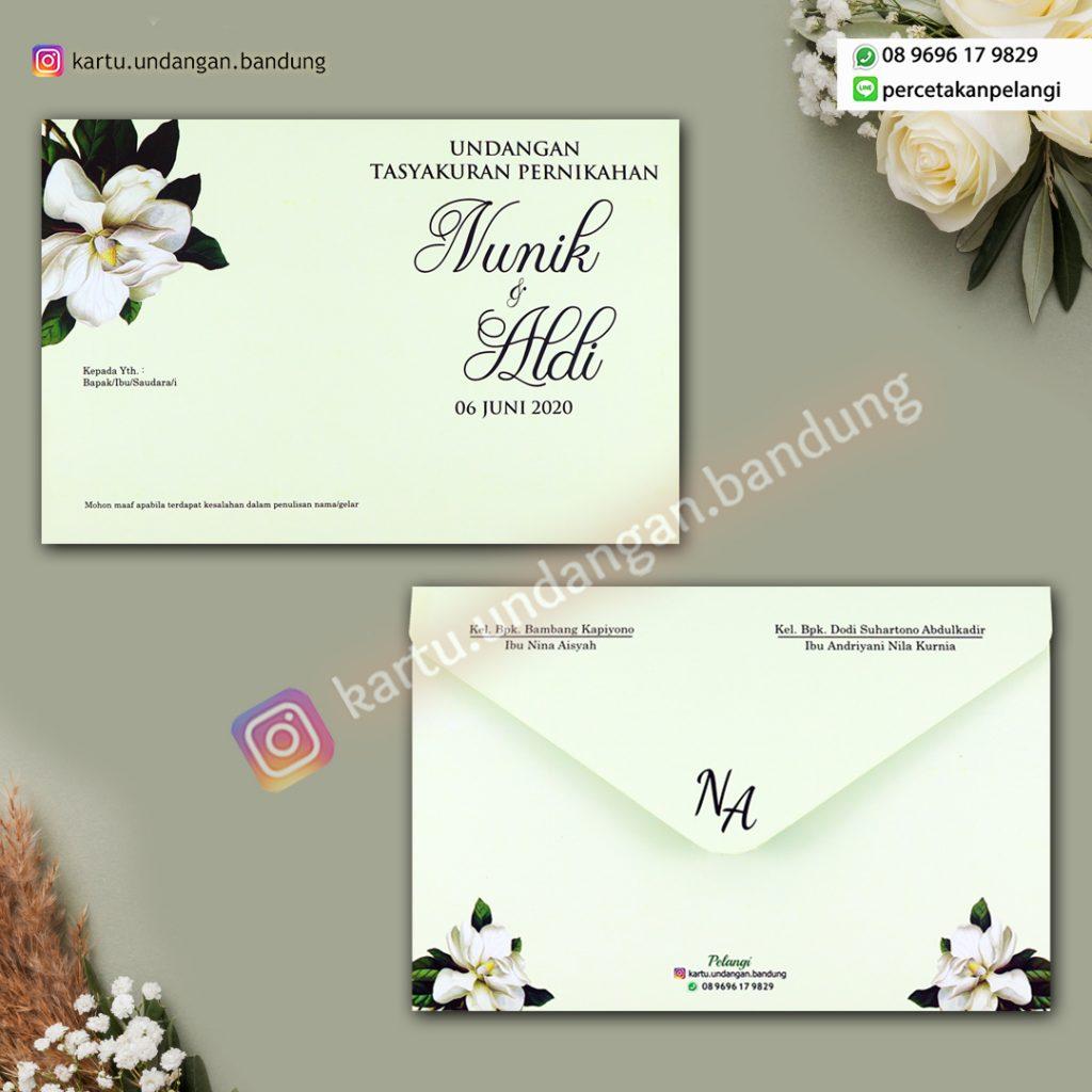 Undangan design Bunga Simple