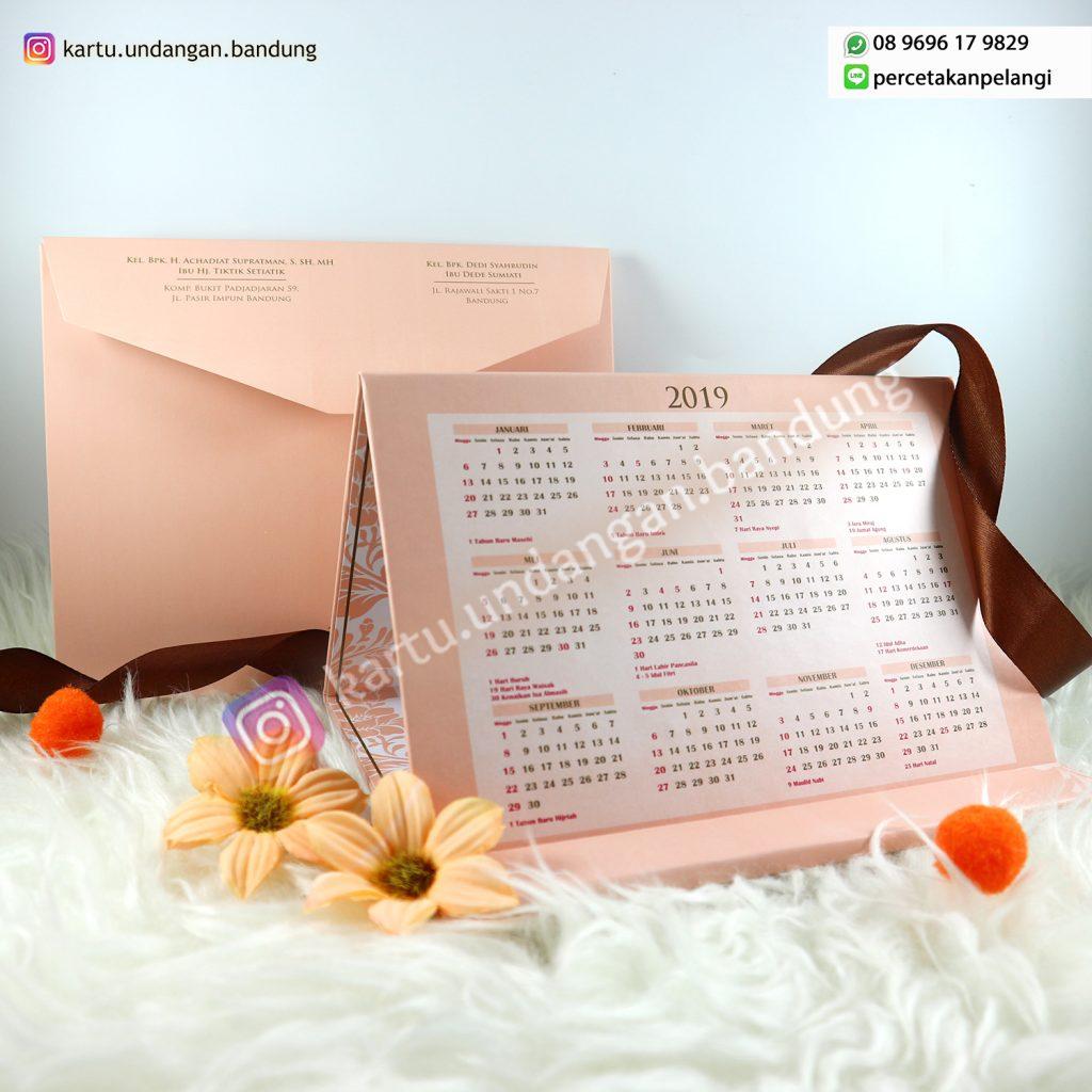 Undangan Kalender Warna Pastel Cantik