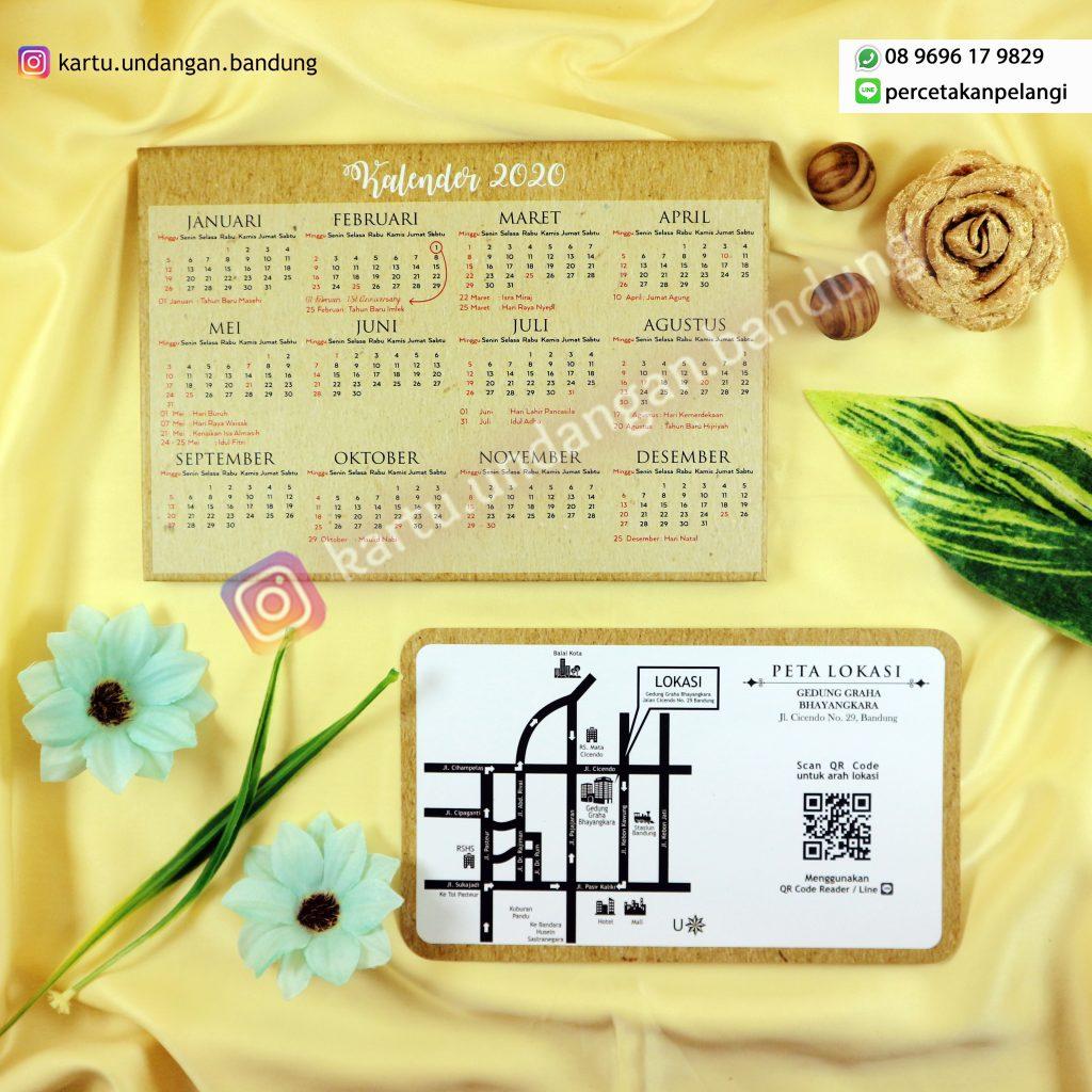 Undangan rustic + kalender