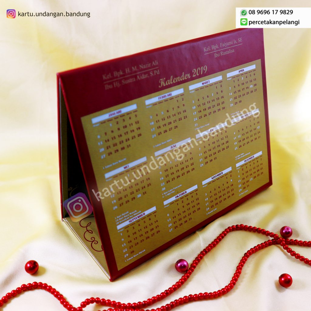 Undangan Kalender Mewah Tema Klasik
