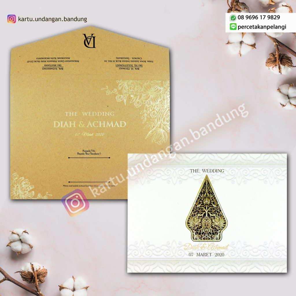 Undangan tradisional Jawa simple